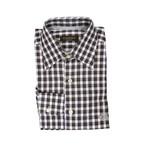 Canali // Plaid Modern Fit Shirt // Brown + White (S)