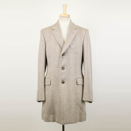 Belvest // Twill Wool Coat // Brown (Euro: 48)