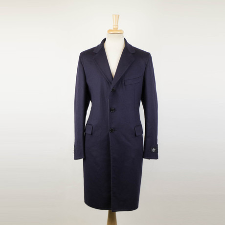 Belvest // Wool 3 Button Full Length Coat // Purple (Euro: 48)