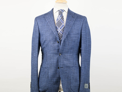 Photo of Belvest Refined Suits + Sportcoats Wool Notch Lapel 2 Button Sport Coat // Blue (Euro: 50R) by Touch Of Modern