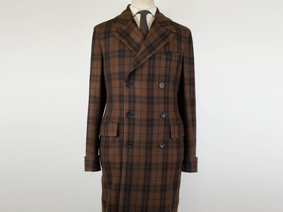 Photo of Belvest Refined Suits + Sportcoats Cashmere Double Breasted Full Length Coat // Brown (Euro: 50R) by Touch Of Modern