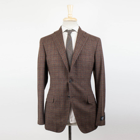 Belvest // Cashmere Blend Unstructured 3 Roll 2 Sport Coat // Brown (US: 48R)