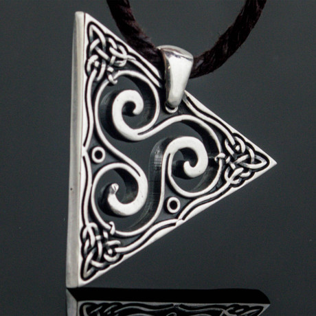 Spiral Triskele Pendant // Silver