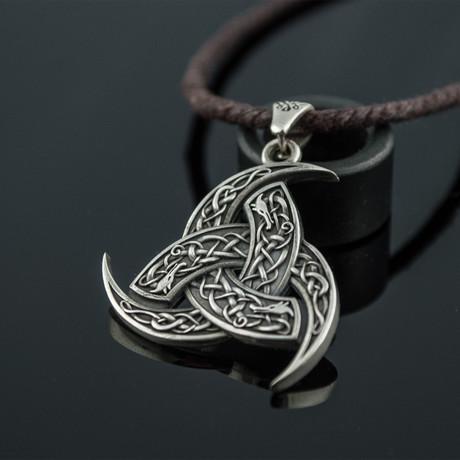 Odin's Horn Pendant // Silver