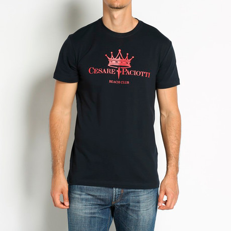 Crowned T-Shirt // Navy (Euro: 46)