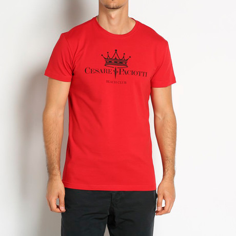 Crowned T-Shirt // Red (Euro: 46)