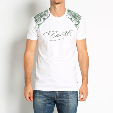 Signature T-Shirt // White + Green (Euro: 46)