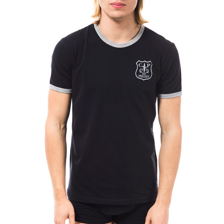 Crest T-Shirt // Black + Gray (XS)