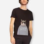 Grumpy Cat T-Shirt // White (S)
