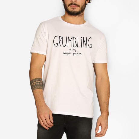 Grumbling Is My Super Power // White (S)