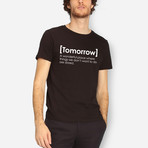 Tomorrow T-Shirt // Black (XL)