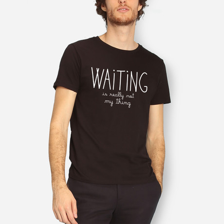 Waiting Is Really Not My Thing // Black (S)