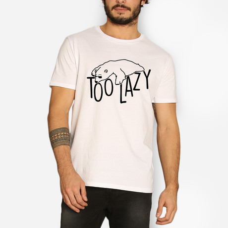 Too Lazy // White (S)