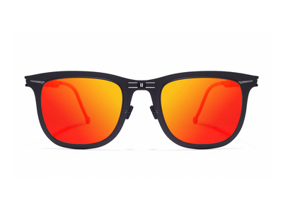 Photo of ROAV Super-Thin Folding Sunglasses Lennox // Black + Sunrise by Touch Of Modern