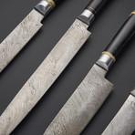 Damascus Kitchen Knife Set 2 // Set of 4