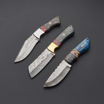 Damascus Steak Knife Set 1 // Set Of 3