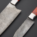 Damascus Cleaver & Chef Knife // Set of 2