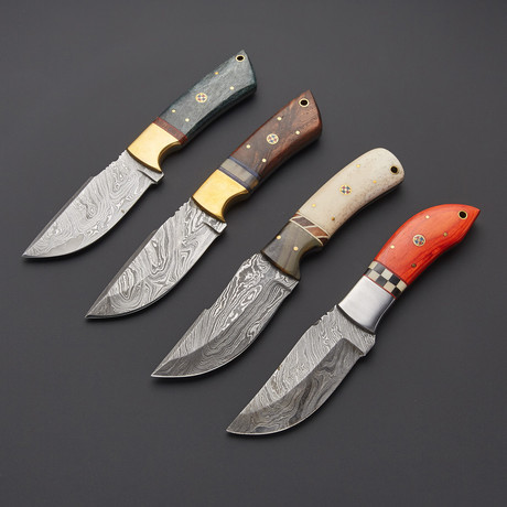 Damascus Steak Knife Set // Set Of 4 // 1276