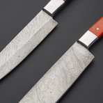 Damascus Cleaver & Chef Knife // Set 2