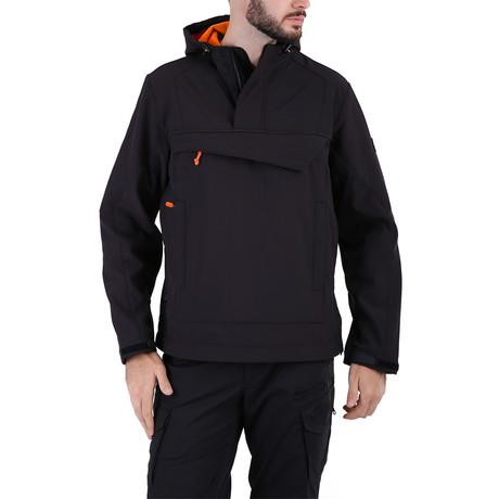 Anorak // Black + Orange (XS)