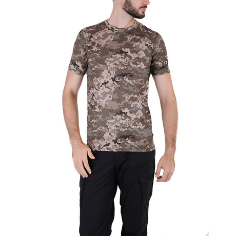 Camo T-shirt  // Brown Camouflage (XS)