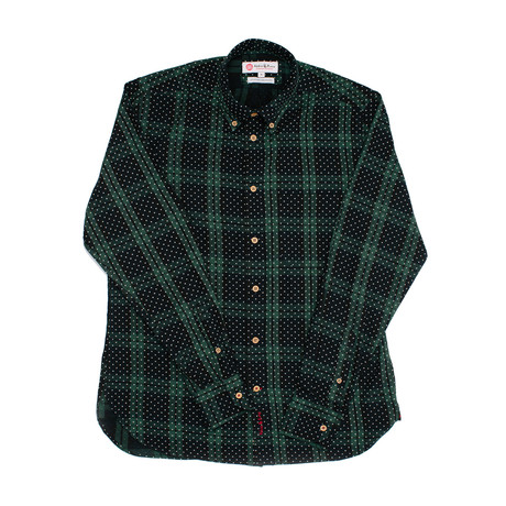 Hipipip Shirt // Green + Navy (XS)
