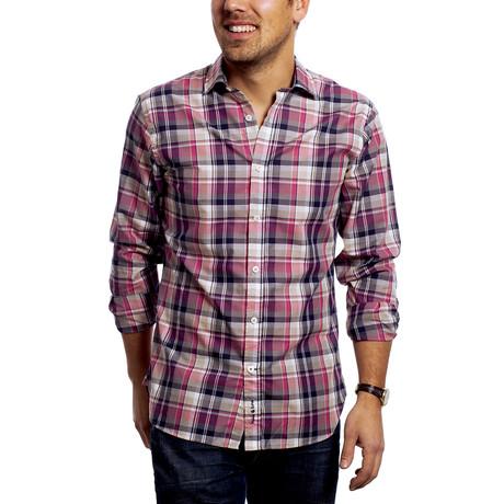 Hips Shirt // Pink + Beige + Navy (XS)