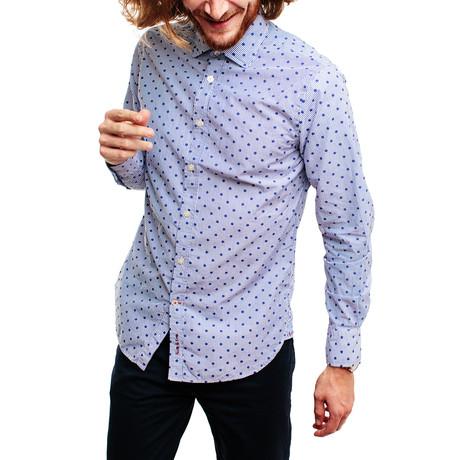 Panpan Shirt // White + Blue (XS)
