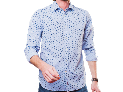 Abbie & Rose Sophisticated Casual Dress Shirts Tchiin Shirt // Blue (S) by Touch Of Modern - Denver Outlet