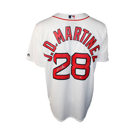 Signed Boston Red Sox Replica Home Jersey // JD Martinez