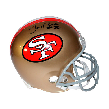 Signed Full Size SF 49ers Replica Helmet // Jerry Rice