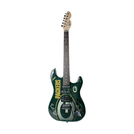 Signed Green Bay Packers Electric Guitar // Aaron Rodgers