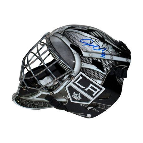 Signed Replica LA Kings Goalie Mask // Jonathan Quick