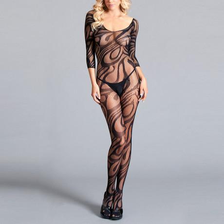 Lucy body stocking // Black