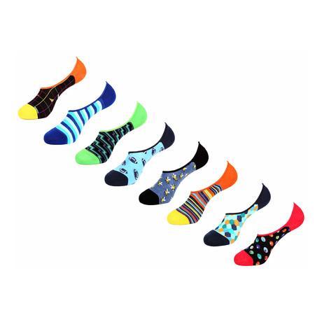 Columba No Show Socks // 8 Pack