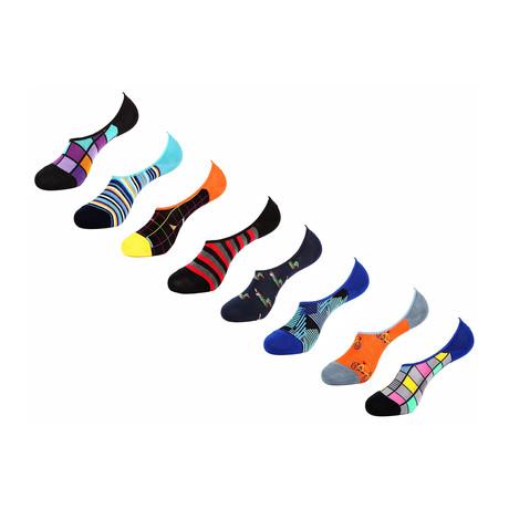 Chanda No Show Socks // 8 Pack