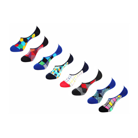 Bandan No Show Socks // 8 Pack