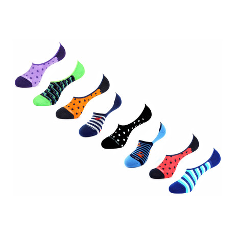 Jewell No Show Socks // 8 Pack