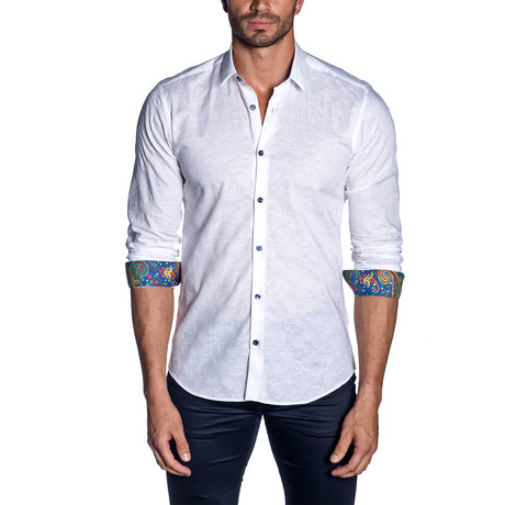 Woven Button-Up // White (S)