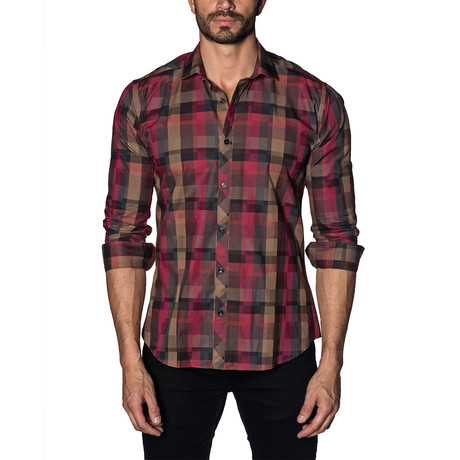 Woven Button-Up // Red (S)