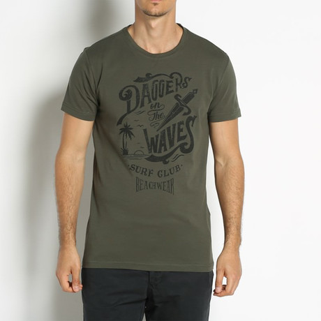 Dagger on the Waves T-Shirt // Green (Euro: 46)