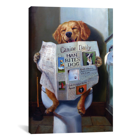 "Dog Gone Funny // Lucia Heffernan (26""W x 18""H x 0.75""D)"