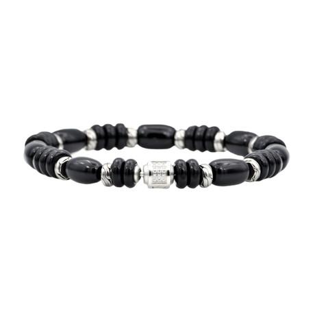 Onyx Bead Bracelet // Black