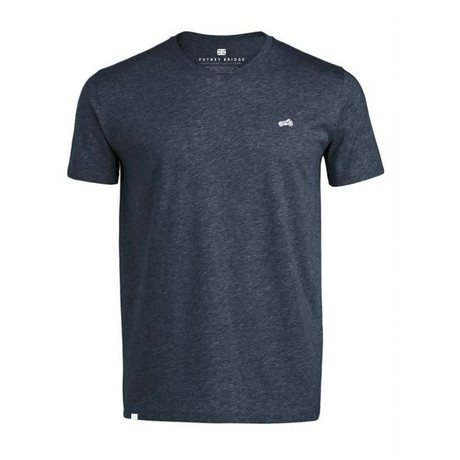 Biker V Neck T-Shirt // Dark Heather Denim (S)
