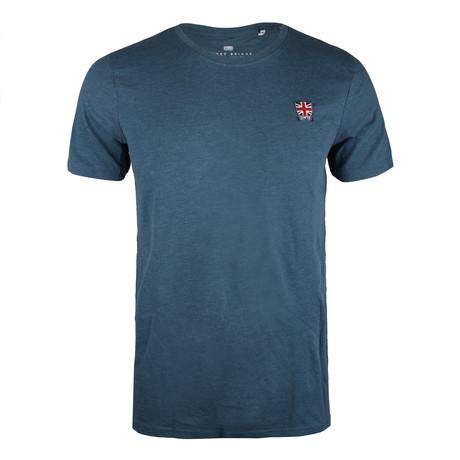 Union Badge T-Shirt // Blue Steel Marl (XS)