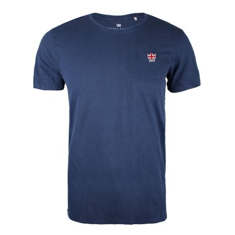 Union Badge T-Shirt // True Indigo (XS)