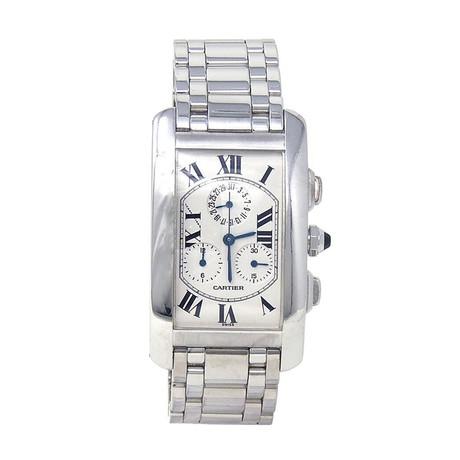 Cartier Tank Americaine Chronograph Quartz // 2312 // Pre-Owned