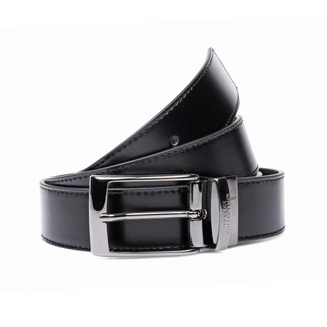 Smooth Leather Belt // Black