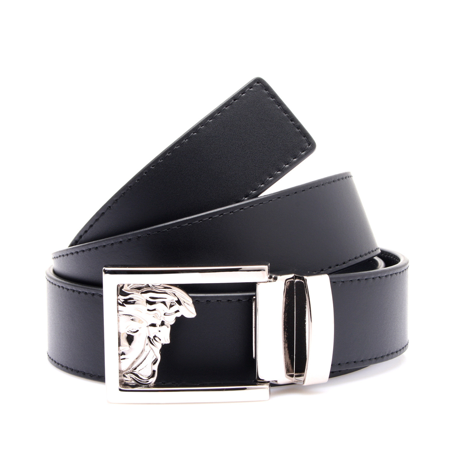 b914d4412f F18d95f1cf18450a12b4fa7799e786ee medium · Medusa Buckle Smooth Leather Belt  ...