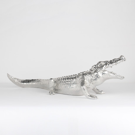 Crocodile Sculpture // Chrome